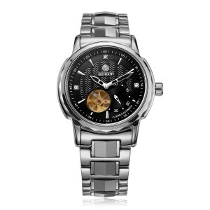 腕時計 自動巻き BINLUN ビジネス 高級 スケルトン オリジナル シースルーバック 防水 ウォッチ [並行輸入品]|ohmybox