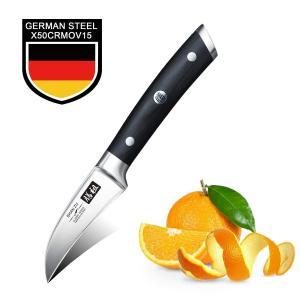 ピーリングナイフ SHAN ZU 75mm  ペティナイフフルーツナイフ 果物ナイフ ステンレス 果物皮むき 野菜皮むきナイフ 家庭用|ohmybox