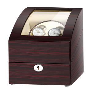 JQUEEN ワインディングマシーン ウォッチワインダー 2本巻き 3本収納 日本製マブチモーター 木製 腕時計 自動巻き|ohmybox
