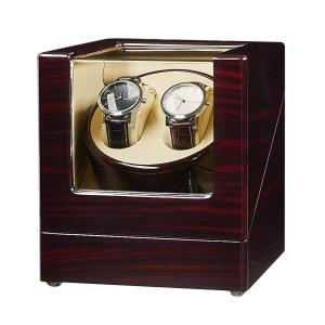 JQUEEN ワインディングマシーン ウォッチワインダー マブチモーター 静音 木製 (2本巻) 自動巻 腕時計ケース|ohmybox