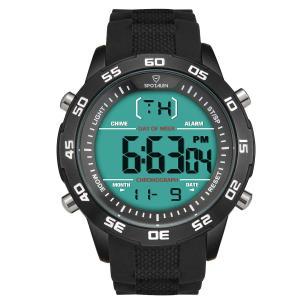 腕時計 メンズ 時計 デジタル 多機能 時報 曜日 日付 バックライト 軽量 カジュアル 人気 ブラック|ohmybox