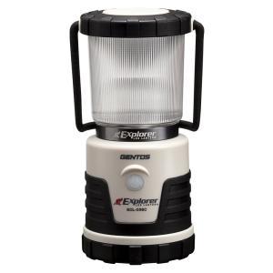 ジェントス LED ランタン 3色切替/連続点灯14時間/防滴 エクスプローラー SOLシリーズ