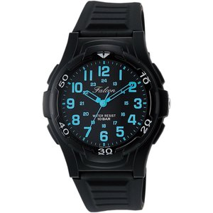 CITIZEN Q&Q 腕時計 Falcon ファルコン アナログ表示 10気圧防水 ウレタンベルト ブラック ブルー VP84-852|ohmybox