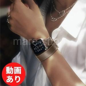 Apple Watch バンド 女性 レディース レザー 革 ダブル 二重 お洒落 アクセサリー