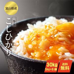 お米30kg コシヒカリ  富山県産 1等米(平成29年産)...