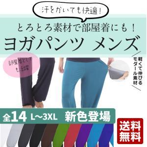 ヨガパンツ 全14色 メンズ サルエル ヨガウェア ヨガウエア 大きいサイズ ワイドパンツ ストレッチ性抜群 送料無料|ohplus