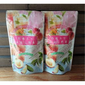 白桃 水出し 煎茶 緑茶 フレーバーティー ティーバッグ 送料無料 国産 日本産 peach  fr...