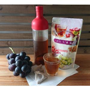 麦茶 ブドウ 水出し フレーバー フレーバー麦茶 ティーバッグ 送料無料 国産 日本産   国産大麦...