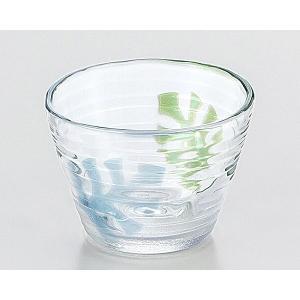 夏のメニューを涼しく引き立ててくれるモンステラ柄のガラス製つゆ鉢です。  涼しげでおしゃれ!そば猪口...