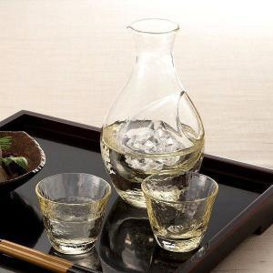 日本酒グラス 高瀬川 琥珀 冷酒 ギフトセット東洋佐々木ガラス製|oi-con