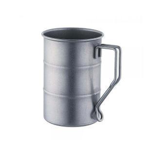 ドラム缶 マグカップ  400ml ヴィンテージシリーズ ダメージ加工 ステンレス 18-8 (510465)|oi-con