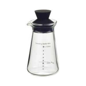 イワキ耐熱ガラス ドレッシングボトル ミニ K5013-BK 100ml|oi-con