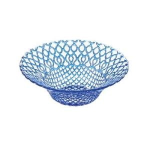 ガラス皿 HANA (ハナ) ボール16cm ブルー(青)|oi-con