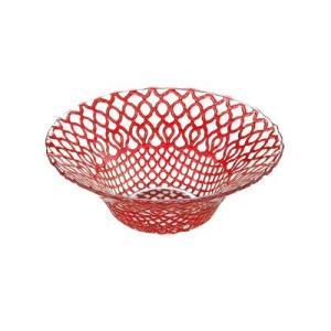 ガラス皿 HANA (ハナ) ボール16cm レッド(赤)|oi-con
