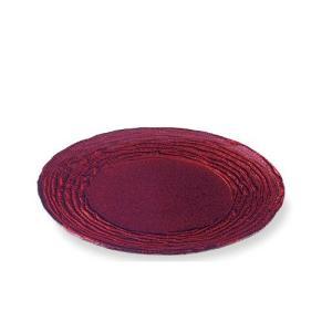 M-style『マラケシュ・シリーズ』のガラス製の丸いお皿です。 深みのあるワインレッドのような赤色...