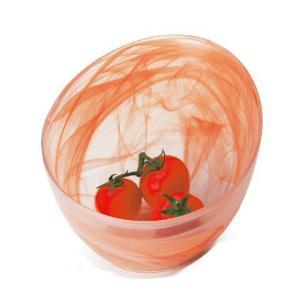 ガラス食器 マルモ アイスボール W16cm  オレンジ|oi-con