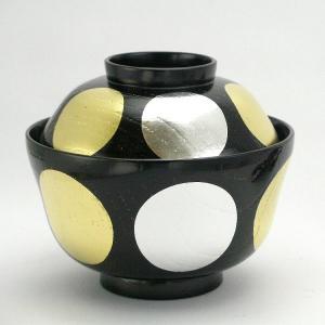 越前漆器 お椀 欅(けやき)日月 魯山人煮物椀 (3-20-6611) oi-con