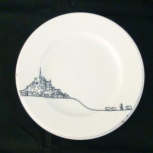 洋食器 絵皿 ヴォヤージュ 19cm プレート ブルターニュ|oi-con