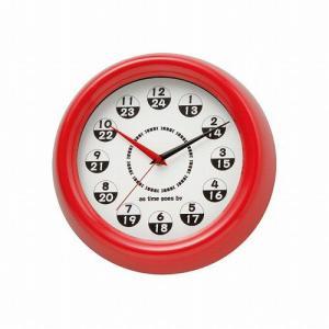 壁時計  Judy RD ジュディ レッド  YCK-427RD 掛時計|oibby