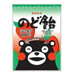 【送料無料】オークラ製菓 くまモンのど飴 リンゴ果汁100% 1袋90g(10袋入×2ケース)【賞味期限:2021.08.31】|oideyaoosaka
