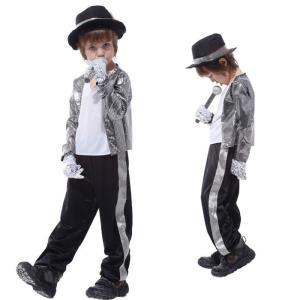 送料無料 ハロウィン 衣装 子供 マイケル・ジャクソン 演出服 舞台 ステージ 服 仮装 コスチュー...
