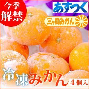 冷凍みかん 冷凍フルーツ 三ヶ日みかん 静岡産 ミカン フルーツ シャーベット  4個|oimoya