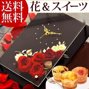 敬老の日 プレゼント 花 お菓子  プリザーブドフラワー 花とスイーツ アレンジメント|oimoya