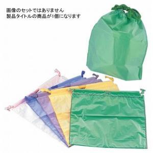 1317-21 カラー巾着袋(20枚入) グリーン 148000110|oishii-chubou