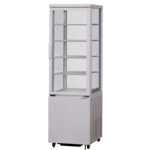 幅423 奥行478 サンデン 冷蔵ショーケース 4面ガラスタテ型タイプ AGV-90X|oishii-chubou