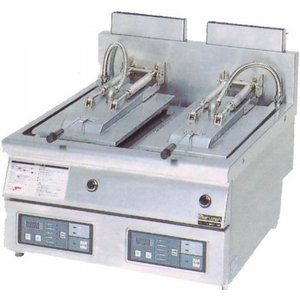 幅650 奥行750 マルゼン ガス自動餃子焼器 フタ固定タイプ MAZ-44|oishii-chubou