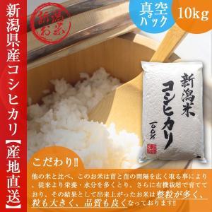 新潟コシヒカリ 10kg 送料無料 令和2年産新米 真空パック 長期保存 白米 こしひかり 5kg×2|oishii-kome