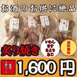 お酒のお供に!厳選!炙り焼きサヨリ・キス・イワシ・アジの4種セット(送料無料)
