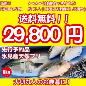 2017年年始以降に入荷次第発送 [天然ブリの王様!美味しい魚特選海鮮ギフト]氷見産 天然寒ブリ6kg以上[国産][通常便]