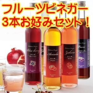 飲むおいしい酢フルーツビネガー 3本お好みセット