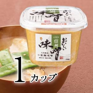おいしい味噌 750g 1カップ 天然醸造の十割麹味噌 国産大豆と米を使用した白粒味噌 信州味噌|oisi