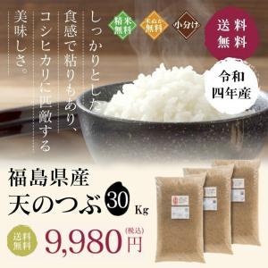 新米 お米 30Kg 福島県産 天のつぶ 送料無料 無洗米 精米 令和元年産 一等米|oisiiokomedesu