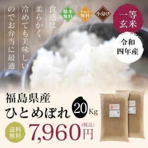 新米 お米 20Kg 福島県産 ひとめぼれ 送料無料 無洗米 精米 令和元年産 一等米 oisiiokomedesu
