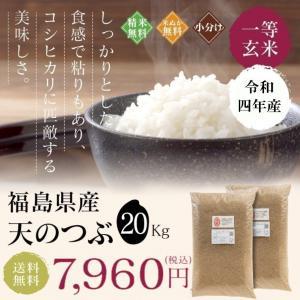 新米 お米 20Kg 福島県産 天のつぶ 送料無料 無洗米 精米 令和元年産 一等米|oisiiokomedesu