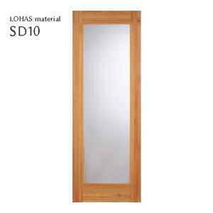 LOHAS material オリジナル無垢建具ドア スタンダードシリーズ SD10 パイン 無塗装|ok-depot