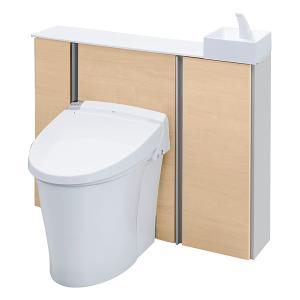 キャビネット付きトイレ リフォレ I型 ワイド間口 手洗い付き 床排水 H1グレード YDS-H2S...