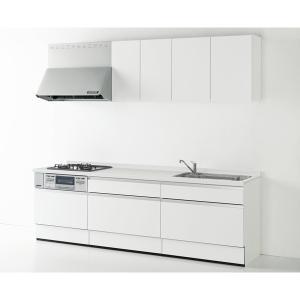 Housetec(ハウステック) システムキッチン ハウステック Kanarie(カナリエ) I型 スライドタイプ 収納たっぷり仕様 間口2550mm 扉A 食洗機無し|ok-depot