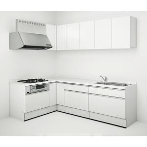 Housetec(ハウステック) システムキッチン ハウステック Kanarie(カナリエ) L型 スライドタイプ シンプル仕様 間口2550mm×1650mm 扉A 食洗機無し|ok-depot