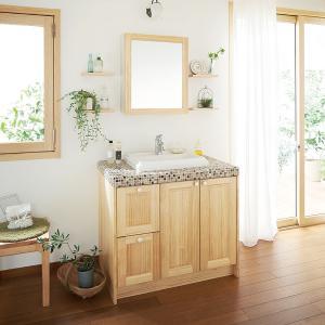 WOODONE(ウッドワン) 洗面化粧台 ウッドワン 無垢の木の洗面台 NZ50 ナチュラル色 間口945mm 片引出し仕様|ok-depot