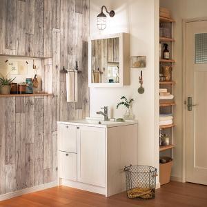 WOODONE(ウッドワン) 洗面化粧台 ウッドワン 無垢の木の洗面台 NZ30 ホワイト色 間口775mm 片引出し仕様|ok-depot