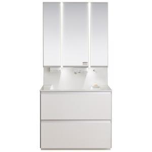 洗面化粧台 Panasonic(パナソニック) ウツクシーズ W750 ツインラインLED主照明3面鏡 ホワイト 一般地用 XXGU75SHWEA3Y|ok-depot
