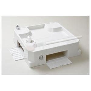 洗濯機パン ベストレイ 給水栓付64床上点検タイプ ドラム式洗濯機対応 USBS-6464SNW スノーホワイト|ok-depot