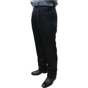 スラックス 黒スボン 黒パンツ レストラン 飲食店用 アジャスター付き 3L〜4Lサイズ|okacho-store