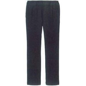 レストラン・飲食店用 黒スラックス(黒ズボン黒パンツ) 4Lサイズ|okacho-store