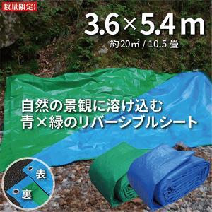ブルーシート タープ 厚手 防水 規格 #3000 3.6m×5.4m 色 青&緑 1枚 決算セール...
