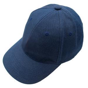 キャップ ネイビー 帽子 紺 ベースボールキャップ 野球帽 シンプル アジャスター付き